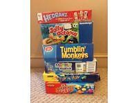 Board games - Hedbanz, Jolly Octopus, Tumblin Monkeys, Marble Mountain, Pop n Hop & Grab a Crab