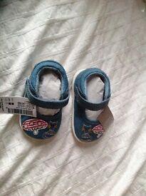 NEXT denim pram shoes