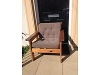 Solid pine wood chair