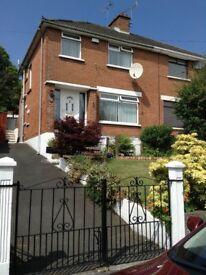 3-bed unfurnished house to let Bangor West short term lease