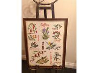 Tapestry vintage framed picture