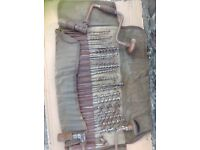 2 VINTAGE HAND BRACE'S AND 24 ASSORTED BIT DRILLS