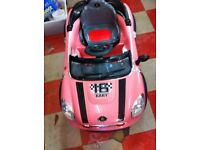 SIT IN AND DRIVE BATTERY MINI CAR WITH REMOTE