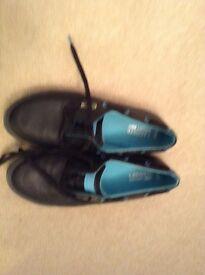 Mens Lacoste black casual shoe size 9