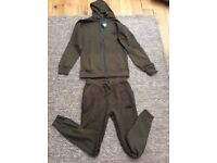 Genuine north face tracksuits in grey/black or khaki green