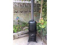 Wood burner patio heater