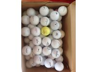 Mix of 80 golf balls (A and B condition)
