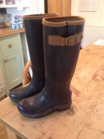 Ariat Tall Rubber Boots with leather trim