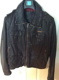 Superdry Brad men's leather jacket