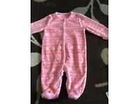 Baby girl sleepsuit up to one month