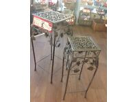 Nesting metal plant stands