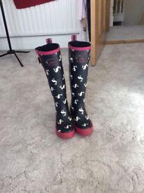 Joules Wellington boots size 4/37