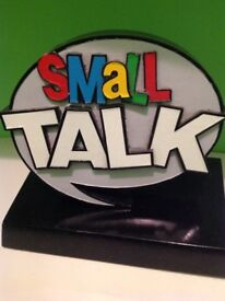 'Small talk' (Ronnie Corbett) original game show trophy, 1980s, only 52 shows aired. Perfect.