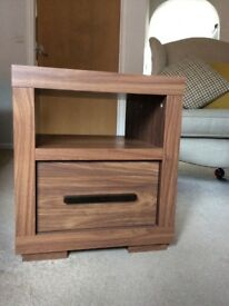 Walnut effect Bedside Cabinet