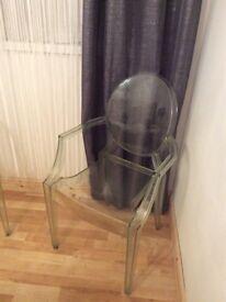 Transparent/clear armchair /bedroom chair