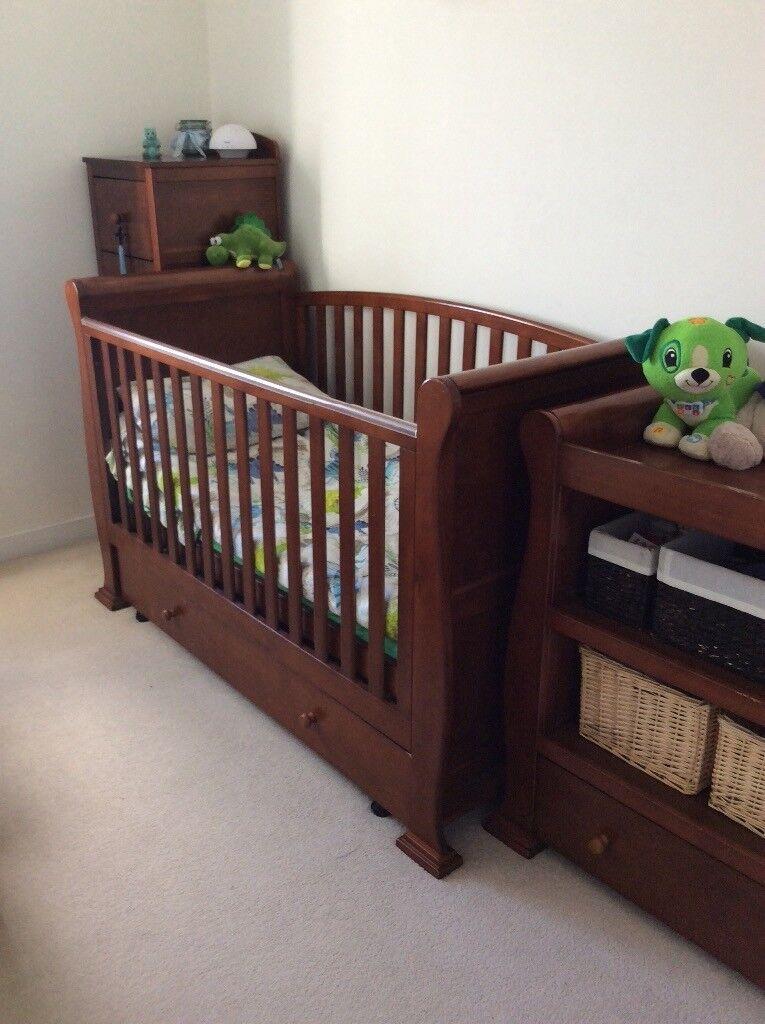 Toys R Us Nursery Furniture Set Sleigh Cot Bed Tall Boy Changing Unit In Swaffham Norfolk Gumtree