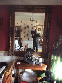 Large embossed ornate mirror