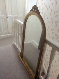 Very Large Beautiful AntiqueGold Effect Ornate Mirror