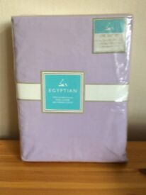 Egyptian Cotton 200 thread count Sheet Set Lilac Unopened in original packaging..