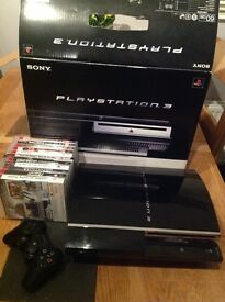 PlayStation 3 60gb with 11 games