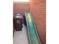 Green 10tf wave slide for climbing frame