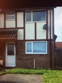 BRACKLA - 2 bedroom semi detached house with off road parking