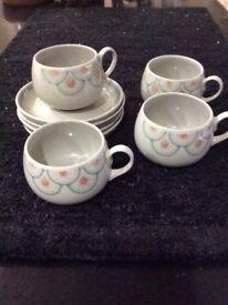Denby - sundance tea cups and saucers
