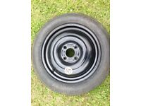 15 Spare Wheel T125 / 08 R15 95M Continental Tyre