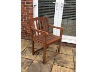 3 Heavy duty garden chairs