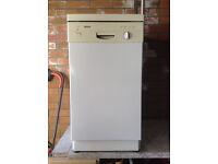Bosch white slimline dishwasher