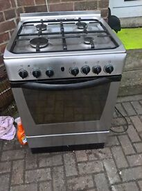 silver gas cooker 60cm.....Mint free delivery