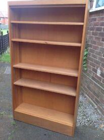 Beechwood open bookcase