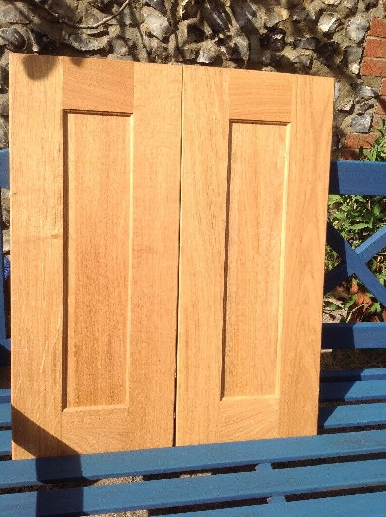 Solid Oak Shaker Style Kitchen Cabinet Doors In Sevenoaks Kent