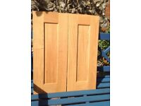 Solid oak shaker style kitchen cabinet doors