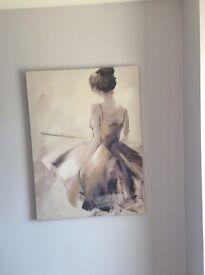 Modern canvas print featuring a beautiful ballet dancer