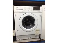 Beko intergrated washer/dryer. 7kg 1600spin £249 new/graded 12 month Gtee