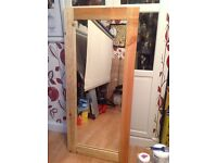 Large hand made mirror, reclaimed wood