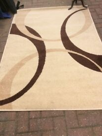 """Gain and brown rug 68x47"""" 173x 120cm"""