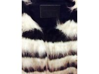 Storm & Marie s/m black white stripe coat £90 collection only