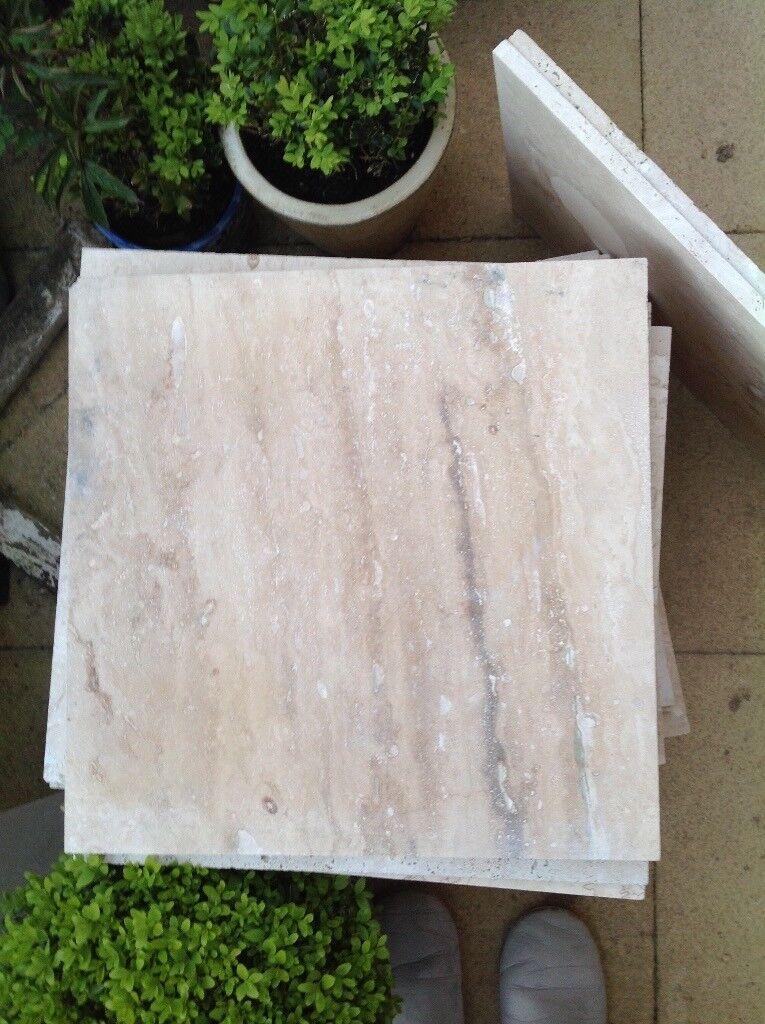 Travertine large tiles x36