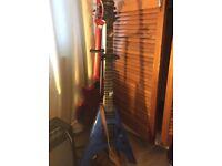 Houston Electric Guitar and Subzero 35W amp + soft case & strap