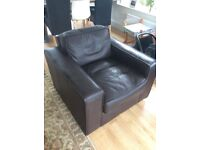 Brown Leather Armchair FREE
