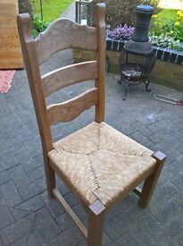 solid dutch oak dining chairs
