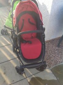 Graco Evo Red Travel system