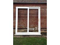 White uPVC sliding patio doors for 6 ft