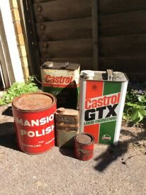 Vintage tins/cans collectable