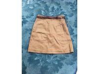 BNWT brown skirt size 8