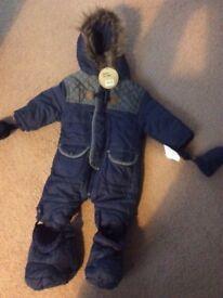 Brand new baby snowsuit 0-3 months