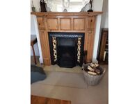 Cast iron fireplace with original tiles