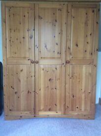 Pine double wardrobe